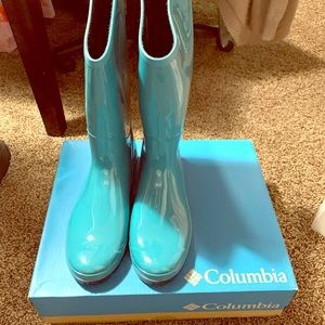 COPY - Teal Columbia Rain Boots Size 9